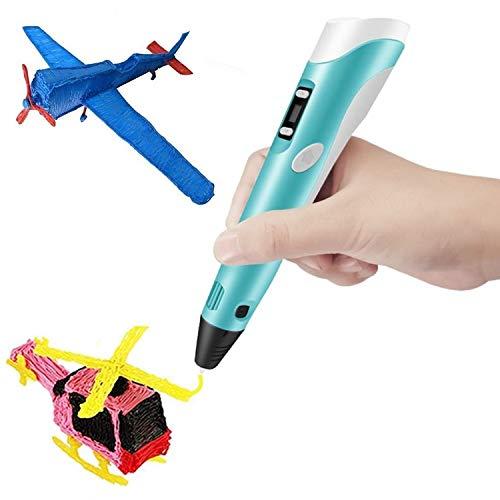 Boligrafo de Impresion 3D - Lapiz Pluma con 3 Colores Filamento PLA 9M - Un Boli Profesional para Dibujar en 3D y Hacer Manualidades - Pen 3D - Regalo para Niños y Adultos