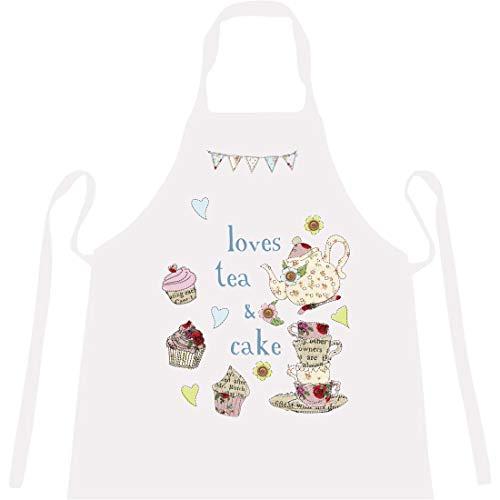 Gepersonaliseerd schort 'Loves Tea & Cake' - Nieuwigheid, Grappige schorten voor mannen, vrouwen en grootmoeders