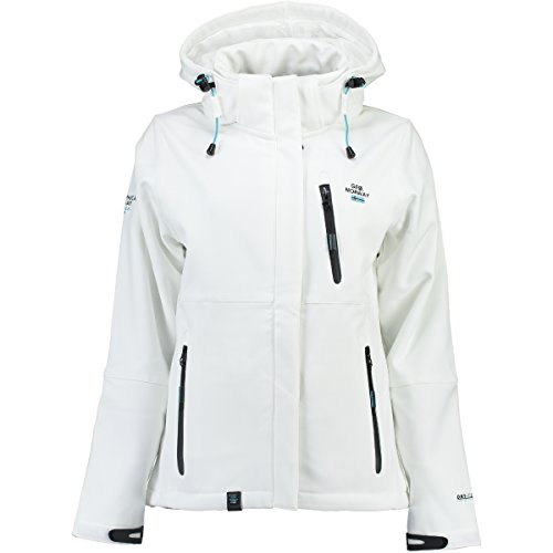 Geographical Norway–Giacca da donna in tessuto Softshell, impermeabile bianco XL