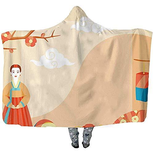 La grande couverture à capuche traditionnelle