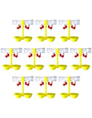 DOITOOL 10 Piezas alimentador de Agua de Pollo válvula de Bola de Pollo Bebedero Pato Fuente de Agua de Pollo Aves de Corral Tazas de Agua para Granja