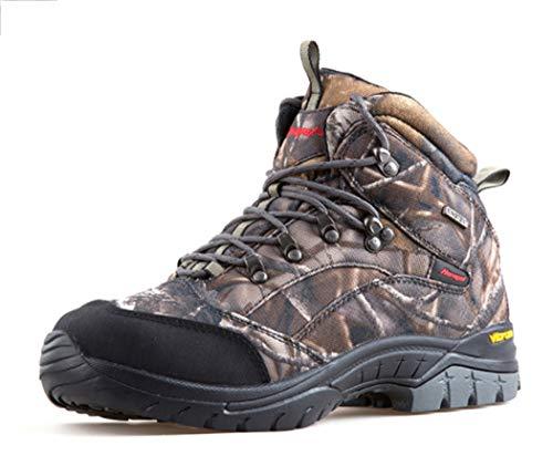 AZLLY trekkingschoenen voor heren, jachtschoenen, slijtvast, antislip, industriële schoenen, waterdicht, met stalen neus voor reizen, trekking