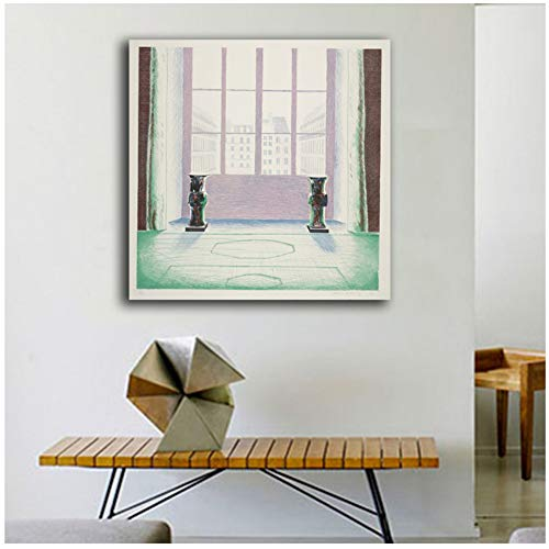 sjkkad schilderen twee VASEN IM LOUVRE van David Hockney muurschildering Home Decor Art afbeelding voor woonkamer druk op canvas -50x50cm geen lijst