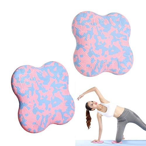 Hemao Estera de Yoga, cojín y Bloques de la Almohadilla de la Rodilla de Yoga, Soporte para Rodillas, muñecas, Manos y Codos, adecuados para Yoga, Pilates y más - 2pcs,Gradient