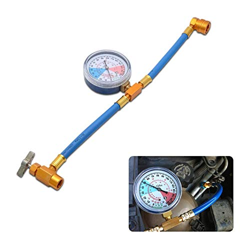Allwway Mess Nachladen Schlauchsatz für Autoanlage Kältemittel R134A A/C Ladeadapter mit Manometer