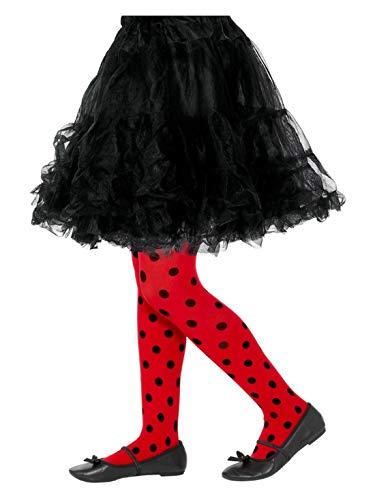 Luxuspiraten – Medias para niños con puntos de mariquita, rojo y negro, 6 – 12 años, perfecto para carnaval y Halloween, rojo
