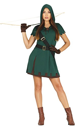 Guirca- Disfraz adulta cazadora, Talla 36-38 (88239.0)