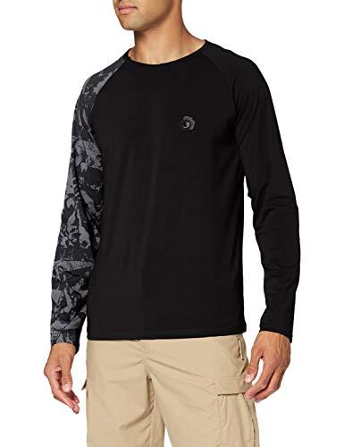 Ferrino Tatoo Ls T-Shirt Man TG XL Black Homme, Noir, 52