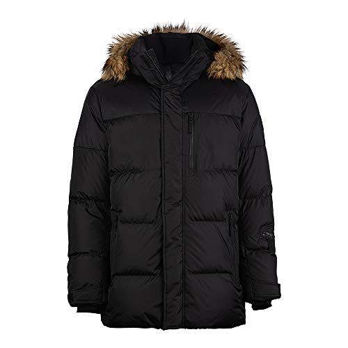 Bogner Fire + Ice Chief2 Black - Ski-Daunenjacke mit Kunstfell, Größe_Bekleidung_NR:56, Farbe:Black