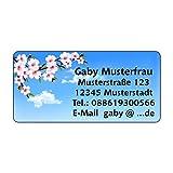 Adressaufkleber - Adressetiketten - Namensetiketten Blumen im Frühling - 210