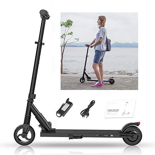 Magic Vida - Patinete eléctrico de 6,0 pulgadas, motor trasero de 250 W, velocidad máxima de 25 km/h, distancia de 15 km, batería de 5,0 Ah 36 V, 7,5 kg, patinete plegable para niños y adultos