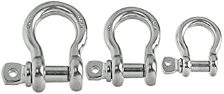 SF Industrial Stainless Steel Screw Pin Anchor Shackle - Choose 3/16