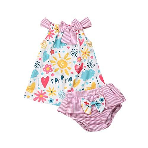 Toddler Newborn - Camiseta de tirantes para bebé, diseño de flores y crawling