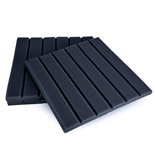 Knowledgi Studio de grabación insonorización paneles acústicos espuma gruesa esponja ligera absorción acústica, 30 x 30 cm en forma de cuña