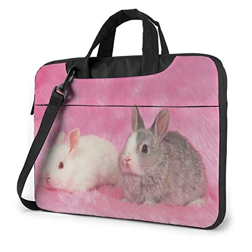Laptop Shoulder Bag 15.6 Inch, Cute Rabbit Briefcase Protective Bag