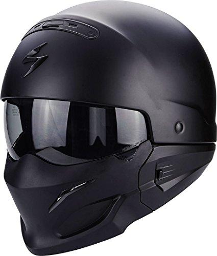 Scorpion Motorradhelm Exo Combat, Schwarz, Größe M - 9