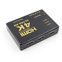 4K * 2K1080PスイッチャーHDMIスイッチセレクター3x1スプリッターボックスUltraHD for HDTV Xbox PS3PS4マルチメディア X 2