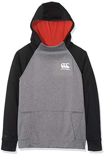 Canterbury Vaposhield Overhead Sweat-Shirt Enfant, Static Marl/Aurora Red, Size 6