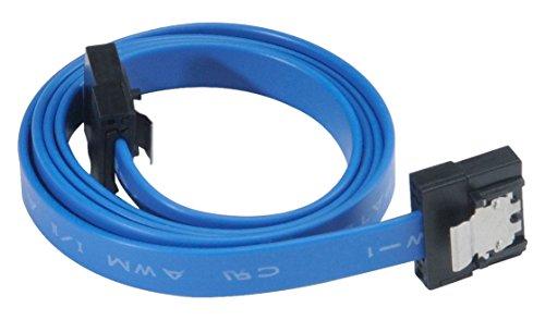 Akasa PROSLIM SATA 3.0 50cm Cable de SATA 0,50 m Azul - Cable SATA (0,50 m, SATA III, Male Connector/Male Connector, Azul)