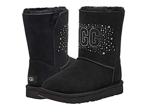 UGG womens Classic Ugg Bling Short Fashion Boot, Black, 7 US