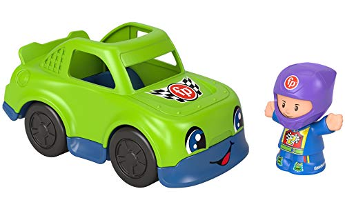 Fisher-Price Little People Race Car, Push-Along Vehicle and Figure Set for Toddlers and Preschool Kids Ages 1-5 Years