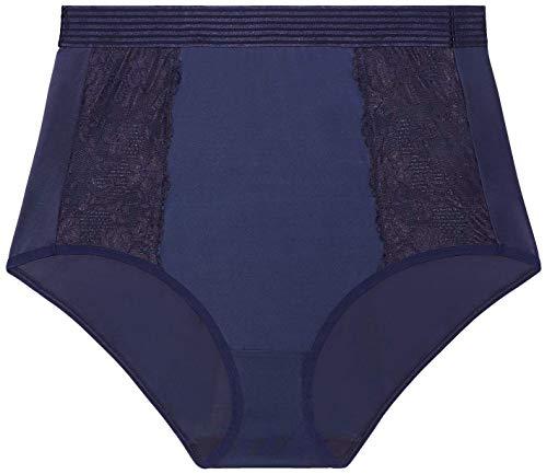 Savage X Fenty Floral Lace High-Waist Brief, Braguita para Mujer, Azul (Navy Blue), 1X