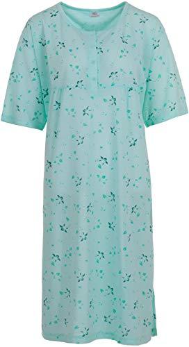 Romesa Lucky - Nachthemd Punkte - Große Größen, Größe:6XL, Farbe:Grün
