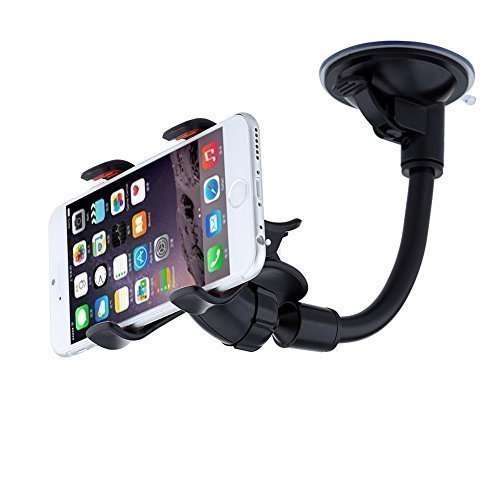 URPOWER Car Mount Phone Holder Car Phone Holder for The Car Long Arm on Windshield Universal Car Holder Car Charger for iPhone 5S/6/7/6S/SE (Grau)