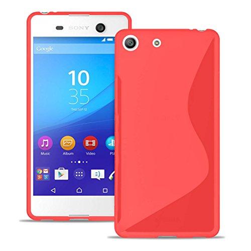 Estuche Ultra Delgado para Sony Xperia M5 El | En Rojo | Funda De Línea S