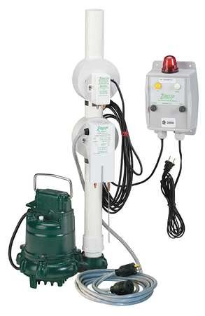 Elevator Sump Pump,3/10 HP,Sensor