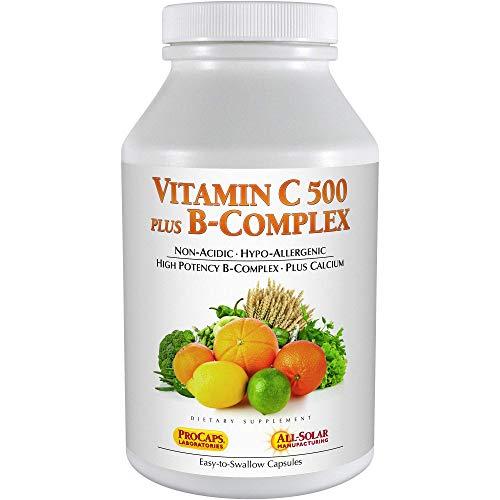 Andrew Lessman Vitamin C 500 Plus B-Complex 360 Capsules – Non-Acidic Vitamin C Plus Citrus Bioflavonoids for Immune System and Anti-Oxidant Support. Easy-to-Swallow Capsules. No Additives