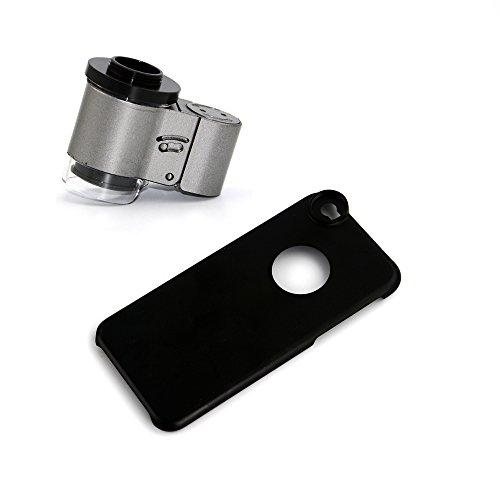 Apexel Mini-microscoop voor Samsung Galaxy Note 4 N910 (met LED-licht, UV-licht), 65X, grijs, 1