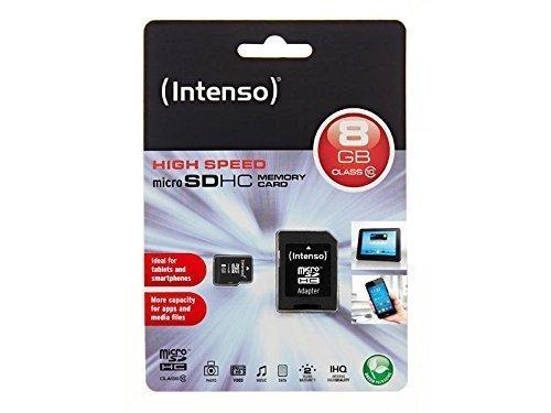 Speicherkarte Intenso Full HD 8 GB MicroSDHC Micro SDHC Class 10 für Samsung Galaxy Note 10.1 Galaxy Note 8.0 Galaxy Note Pro 12.2 Galaxy TabPro 8.4 Galaxy TabPro 10.1 Galaxy TabPro 12.2
