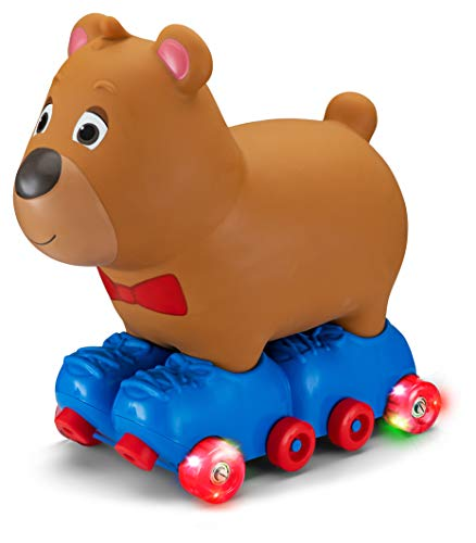 Kid Trax Silly Skaters Bear Toddler Foot to Floor Ride On Toy, Kids 1-3 Years Old, Soft and...