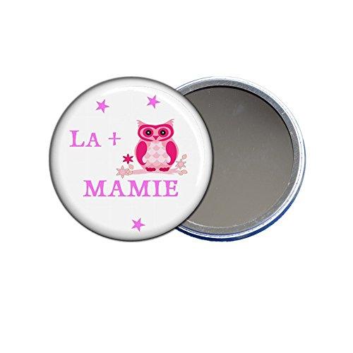 ANGORA Grand Miroir de Poche 9cm, la + Chouette Mamie