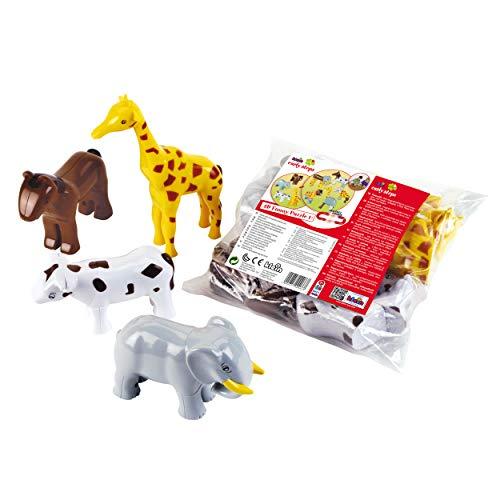Theo Klein-71 Funny Puzzle Con 4 Animales Magneticos, Edad 1+, Con Jirafa, Elefante, Caballo Y Vaca, Multicolor (71)