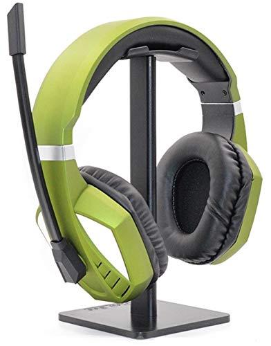 LZ Auriculares Cascos Gaming PC Headphone Micrófono con Interruptor Mudo Ajuste De Volumen USB para PS4 PC Xbox One Nintendo Switch,Verde