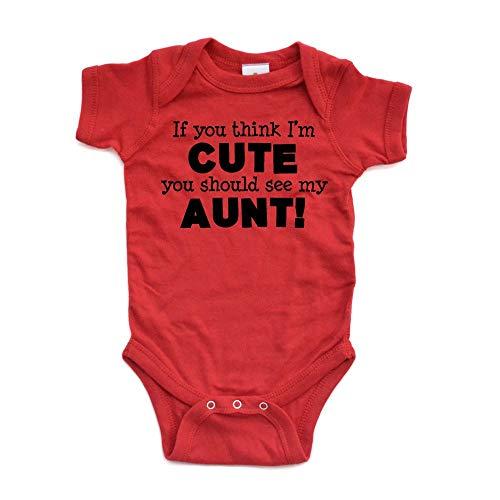 Body para bebé con texto en inglés «If You Think I M Cute See My Aunt» (100% algodón)