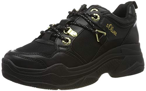 s.Oliver Damen 5-5-23624-23 Sneaker, Schwarz (Black Comb 098), 37 EU