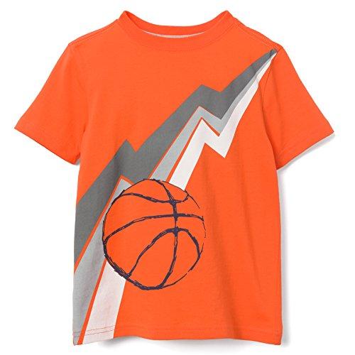 Gymboree Boys' Toddler Short Sleeve Fun Graphic Tee, Campfire Orange, 5T