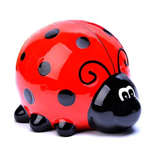 Sparschwein für Kinder,Marienkäferförmiges Keramik-Sparschwein