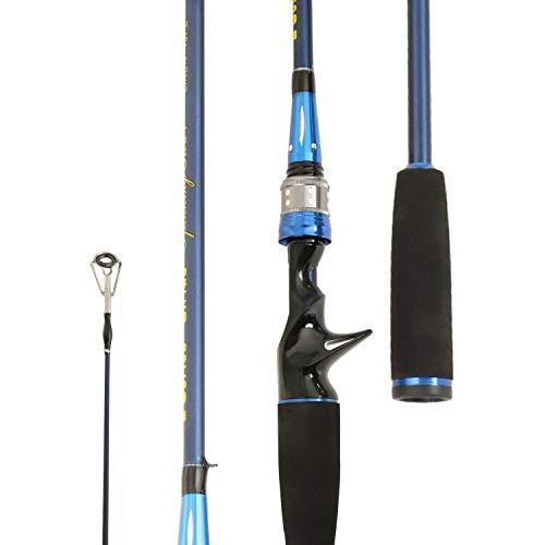 Entsport E Series - Sirius Casting Rod 2-Piece 7-Feet Graphite Portable Baitcast Rod Inshore Baitcasting Fishing Rod Freshwater Baitcaster Rod 7' Medium