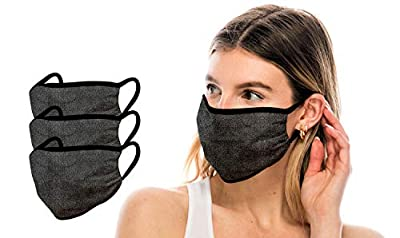 Kurve 3 Pieces Fashion Protective Face Masks, Unisex Polyester Spandex Mouth Masks, Washable, Breathable, Reusable Masks, Made in U.S.A.