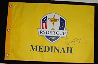 RORY MCILROY signed 2012 RYDER CUP flag *PROOF* W/COA B