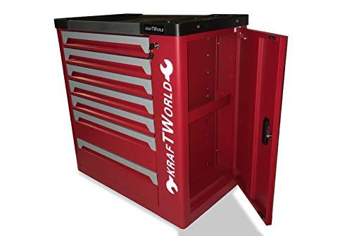 KraftWorld Werkstattwagen mit 7 Schubladen, 399 Teile