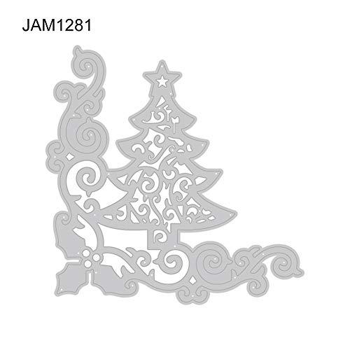 Kimilike Ponsen Machine Ponsen Sjabloon, Kerstboom/hert Ponsen Dies Stencils voor Scrapbooking, Fotopapier, Kaarten, Crafting DIY maken Verjaardagscadeau JAM1281