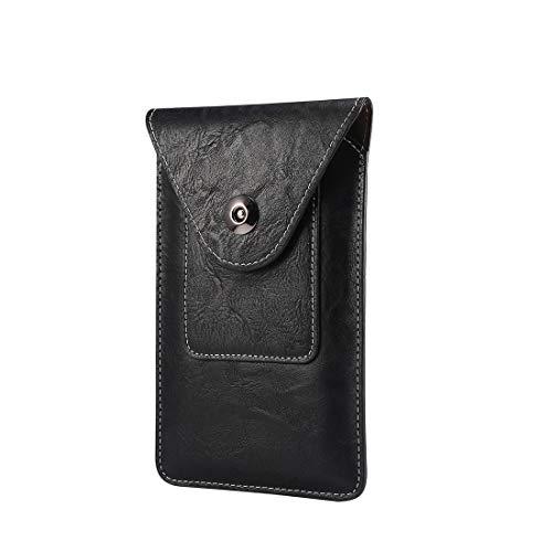 Teléfono clips de cinturón Universal de la correa del teléfono Funda bolsa, carpeta de cuero de la bolsa del caso con el clip for el iPhone SE2002,11,11 Pro, 8,7,6,6s, XR, XS, X, bolso del teléfono mó