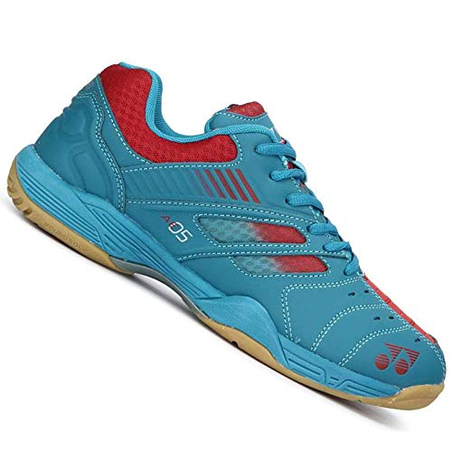 Yonex Tru-Cushion V Non Marking Badminton Court Shoes, Lime/Navy - 9 UK