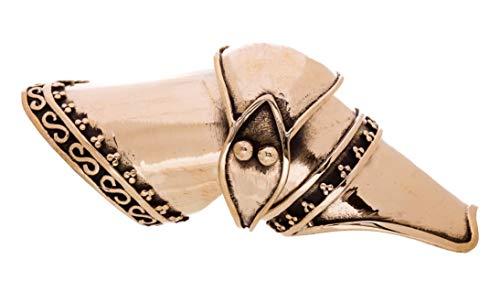 Windalf Statement Ritter Ring BALDUR 65 mm Gelenkring Mittelalter Mediaval Bronze-Ring Mediaval...