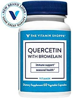 The Vitamin Shoppe Quercetin with Bromelain, Antioxidant That Supports A Healthy Immune for All Seasons (60 Capsules)